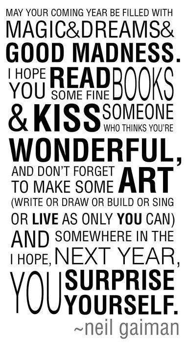 A very happy new year and some wonderful wishes!